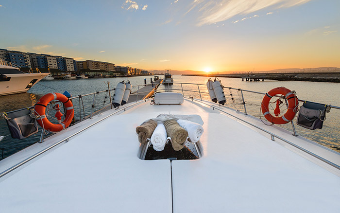 Relaxing experiences on the luxury yacht